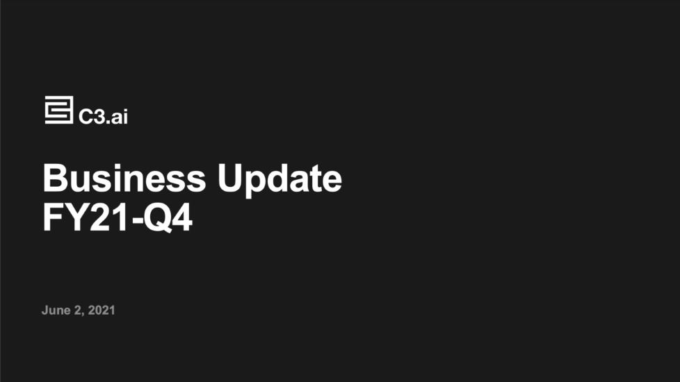 C3 AI Finishes Fiscal '21 at 17% Annual Growth as Q4 Outpaces